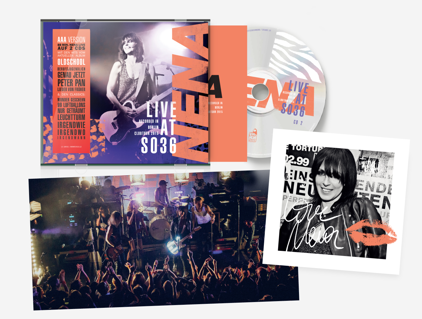 Live at so36 nena offizielle website 02 3fach vinyl aaa box 21 tracks 88 min inkl special etched autographed vinyl extended booklet with lyrics chords double cd album superposter hexwebz Images